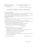 Bài giảng KÊ HOẠCH LĐ.CSVC T1.2011