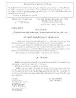 Tài liệu Dự thảo ban hành điều lệ Hội khỏe phù đổng toàn quốc