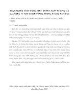 THỰC TRẠNG HOẠT ĐỘNG KINH DOANH XUẤT NHẬP KHẨU CỦA CÔNG TY MAY CHIẾN THẮNG TRONG NHỮNG NĂM QUA
