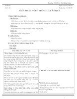 Bài giảng Giáo án CN 9(ca nam)