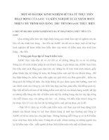 MỘT SỐ BÀI HỌC KINH NGHIỆM RÚT RA TỪ THỰC TIỄN HOẠT ĐỘNG CỦA AASC  VÀ KIẾN NGHỊ ĐỀ XUẤT NHẰM HOÀN THIỆN CHU TRÌNH BÁN HÀNG  THU TIỀN DO AASC THỰC HIỆN