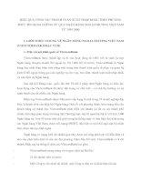 HIỆU QUẢ CÔNG TÁC THANH TOÁN XUẤT NHẬP KHẨU THEO PHƯƠNG THỨC TÍN DỤNG CHỨNG TỪ QUA NGÂN HÀNG NGOẠI THƯƠNG VIỆT NAM TỪ 1995 2000