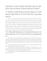 GIẢI PHÁP VÀ KIẾN NGHỊ ĐỂ MỞ RỘNG CHO VAY TIÊU DÙNG TẠI NGÂN HÀNG NO &PTNT HUYỆN CẨM THUỶ