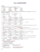 Bài giảng 12 CB UNIT 12 TEST 3