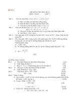 Bài giảng Bo de thi HK2 Toan 7 (18 de) co dap an