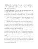 MỘT SỐ í KIẾN NHẰM HOÀN THIỆN CễNG TÁC KẾ TOÁN THÀNH PHẨM  TIấU THỤ THÀNH PHẨM TẠI CễNG TY CƠ KHÍ QUANG TRUNG