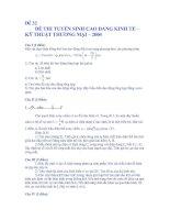 Bài soạn TSĐH De 32