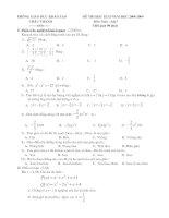 Bài soạn Đề thi HK II_08-09_Toán 7 có đáp án