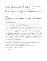 Lí LUẬN CHUNG VỀ TỔ CHỨC CÔNG TÁC KẾ TOÁN BÁN HÀNG Ở CÁC DOANH NGHIỆP THƯƠNG MẠI