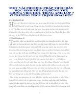 Bài soạn PHƯƠNG PHÁP DẠY HỌC SINH YẾU