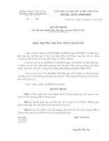Tài liệu Bộ quy tắc ứng xử của CB-GV-NV
