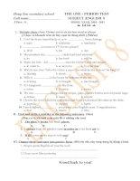 Bài giảng Ktra 15'''' Anh 8  lần 4 2010-2011(tham khảo)