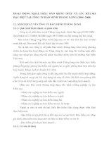 HOẠT ĐỘNG KHAI THÁC BẢO HIỂM CHÁY VÀ CÁC RỦI RO ĐẶC BIỆT TẠI CÔNG TY BẢO MINH TH
