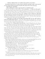 Bài giảng CHƯƠNG TRÌNH VĂN NGHỆ 20/11