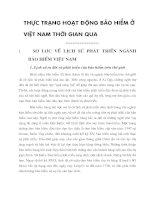 Thực trạng hoạt động bảo hiểm ở Việt Nam thời gian qua