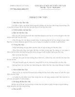 Bài soạn Nội quy thư viện trường THCS