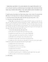 PHƯƠNG HƯỚNG VÀ GIẢI PHÁP TÀI TRỢ VỐN ĐẦU TƯ CỦA NGÂN HÀNG CHÍNH SÁCH XÃ HỘI CHI NHÁNH TỈNH BẮC KẠN ĐỐI VỚI CÔNG TÁC XÓA ĐÓI GIẢM NGHÈO TẠI TỈNH BẮC KẠN