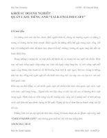 """KHỞI SỰ DOANH NGHIỆP QUÁN CAFE TIẾNG ANH """"TALK ENGLISH CAFE"""""""