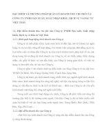 ĐẶC ĐIỂM VÀ PHƯƠNG PHÁP QUẢN LÝ DOANH THU CHI PHÍ CỦA CÔNG TY TNHH SẢN XUẤT, XUẤT NHẬP KHẨU, DỊCH VỤ VÀ ĐẦU TƯ VIỆT THÁI