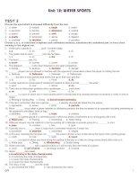 Bài soạn 12 CB UNIT 12 TEST 3