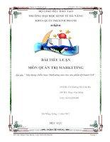 Xây dựng chiến lược marketing mix cho sản phẩm q smart s18