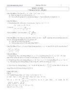 Bài tập toán ôn thi đại học khối D 2009 có lời giải hướng dẫn
