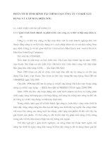 PHÂN TÍCH TÌNH HÌNH TÀI CHÍNH TẠI CÔNG TY CƠ KHÍ XÂY DỰNG VÀ LẮP MÁY ĐIỆN NƯỚC.