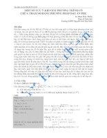 MỘT SỐ LƯU Ý KHI GIẢI PHƯƠNG TRÌNH CÓ CHỨA THAM SỐ BẰNG PHƯƠNG PHÁP ĐẶT ẨN PHỤ