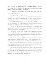 MỘT SỐ GIẢI PHÁP VÀ KHUYẾN NGHỊ NHẰM HOÀN THIỆN CÔNG TÁC QUẢN LÝ ĐỐI TƯỢNG THAM GIA BHXH TẠI BHXH HUYỆN YÊN HƯNG TỈNH QUẢNG NINH