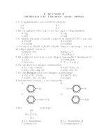 Đề trắc nghiệm ôn thi ĐH Hóa: Dẫn xuất Halogen - Ancol - Phenol