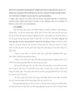 MỘT SỐ GIẢI PHÁP NHẰM HOÀN THIỆN KẾ TOÁN CHI PHÍ SẢN XUẤT VÀ TÍNH GIÁ THÀNH CÔNG TRÌNH XÂY DỰNG CƠ BẢN Ở CHI NHÁNH CÔNG TY CỔ PHẦN CƠ ĐIỆN VÀ XÂY DỰNG TẠI THANH HOÁ