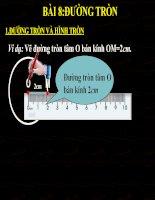 Bài soạn HInh hoc 9 tiet 25 Duong tron