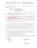 Gián án Thông báo nghỉ tết nguyên đán 2011