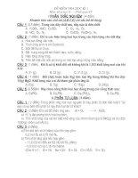 Tài liệu KT học kì 1 Hóa 8