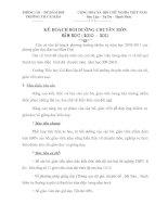 Bài giảng KẾ HOẠCH BỒI DƯỠNG CHUYÊN MÔN