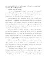 ĐÁNH GIÁ KHÁI QUÁT TỔ CHỨC HẠCH TOÁN KẾ TOÁN TẠI NHÀ MÁY THUỐC LÁ THĂNG LONG