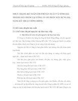 THỰC TRẠNG KẾ TOÁN CHI PHÍ SẢN XUẤT VÀ TÍNH GIÁ THÀNH SẢN PHẨM TẠI CÔNG TY CỔ PHẦN XÂY DỰNG HẠ TẦNG KỸ THUẬT SÔNG HỒNG