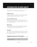 Hungry Minds Cliffs Gre_INTRODUCTION TO MATH ABILITY