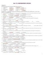 Tài liệu 12 CB UNIT 10 TEST 2