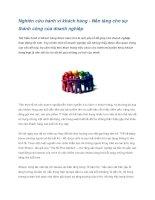 Nghiên cứu hành vi khách hàng - Nền tảng cho sự thành công của doanh nghiệp