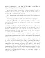 ĐỀ XUẤT HOÀN THIỆN CÔNG TÁC QUẢN LÝ ĐỐI VỚI PHẦN VỐN NHÀ NƯỚC TẠI NHÀ MÁY LEN HÀ ĐÔNG