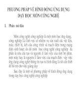 Bài giảng phuong phap ve hinh dong trong day hoc