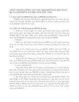 THỰC TRẠNG CÔNG TÁC THU BẢO HIỂM XÃ HỘI Ở CƠ QUAN BẢO HIỂM XÃ HỘI TỈNH PHÚ THỌ