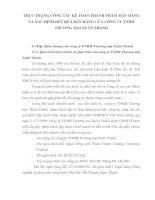 THỰC TRẠNG CÔNG TÁC KẾ TOÁN THÀNH PHẨM  BÁN HÀNG VÀ XÁC ĐỊNH KẾT QUẢ BÁN HÀNG CỦA CÔNG TY TNHH  THƯƠNG MẠI XUÂN THÀNH