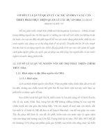 CƠ SỞ LÝ LUẬN VỀ QUẢN LÝ CÁC DỰ ÁN ODA VÀ SỰ CẦN THIẾT PHẢI THỰC HIỆN QUẢN LÝ CÁC DỰ ÁN ODA TẠI BỘ KẾ HOẠCH VÀ ĐẦU TƯ