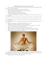 Bài giảng Những điều thú vị về cơ thể người