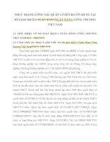 THỰC TRẠNG CÔNG TÁC QUẢN LÝ RỦI RO TÍN DỤNG TẠI SỞ GIAO DỊCH I NGÂN HÀNG CÔNG THƯƠNG VIỆT NAM