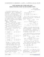 """Giải nhanh bài toán hóa học bằng phương pháp """"sơ đồ đường chéo"""""""