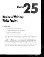 Business Writing - Write Angles