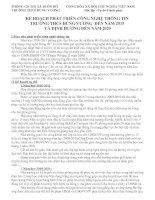Bài giảng KẾ HOẠCH PHÁT TRIỂN CÔNG NGHỆ THÔNG TIN ĐẾN NĂM 2015